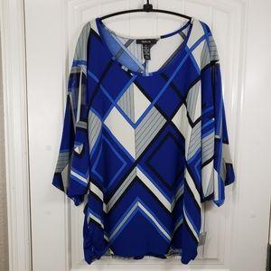 Style & Co. Geometric Tunic Blouse